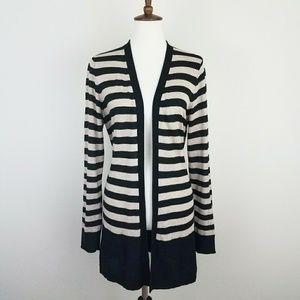 Ann Taylor LOFT Striped Open Front Cardigan